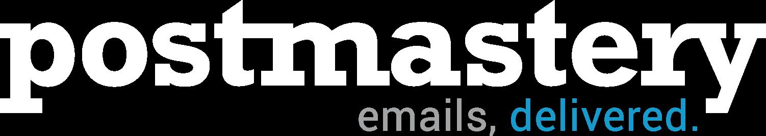 postmastery logo white
